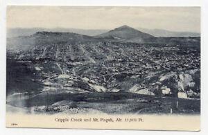 1908 CRIPPLE CREEK CO COLO ABOVE VIEW POSTCARD PC3979