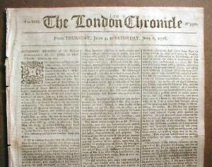 ORIGINAL-1778-1781-American-Revolutionary-War-newspaper-from-London-ENGLAND
