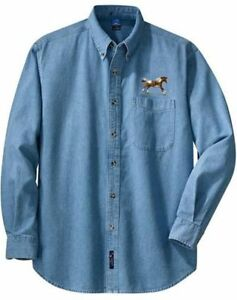 PAINT-HORSE-embroidered-denim-shirt-XS-XL