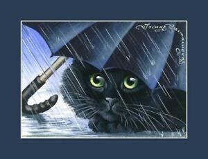 Black-Cat-ACEO-Blue-Umbrella-Print-By-I-Garmashova