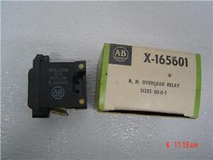 ALLEN-BRADLEY-R-H-OVERLOAD-RELAY-X-165601-Size-00-0-1-New