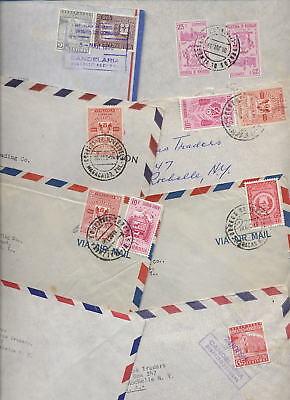 VENEZUELA 1950s AIRMAIL COVERS to USA...28 COVERS
