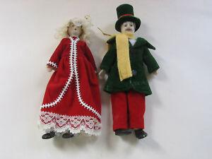 2-Porcelain-Victorian-Male-Female-Ornament-Figures-NIB