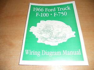 1966 FORD F100 F250 F350 F-100 WIRING DIAGRAMS MANUAL   eBay