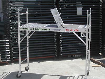 Aluminum Scaffold Rolling Tower With Aluminum Hatch Deck Double U Locks Cbm6930