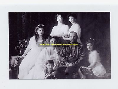 mm258 - Czar Nicholas II of Russia & family group - photo 6x4""