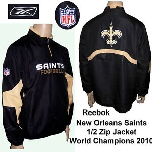 New Orleans Saints 1/2 Zip Jkt  Large