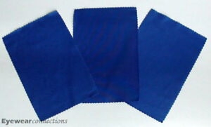 3 Royal Blue Microfiber Cleaning Cloth / Eyeglasses Sunglasses iphone GPS screen