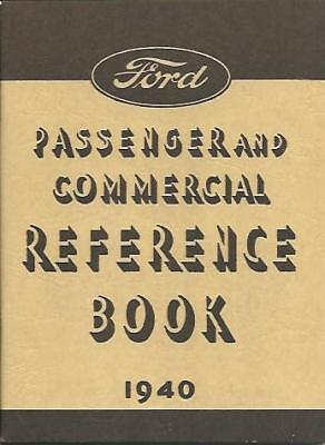 1940 Ford Car (8 Cylinder- 60 & 85 H.p) Owner's Manual