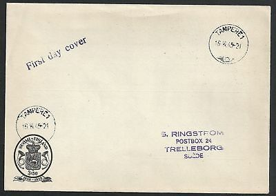 Finland 1945 FDCcover Tampere to Trlleborg