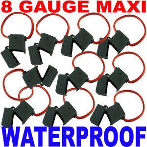 8 Gauge AWG Ga Waterproof MAXI Fuse Holders New 10 Pack
