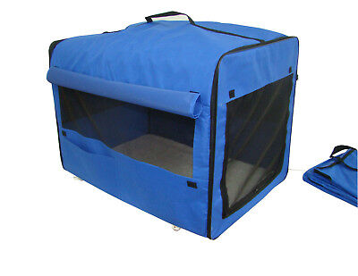 Dog-Cat-Pet-Bed-House-Soft-Carrier-Crate-Cage-w-Case-MU
