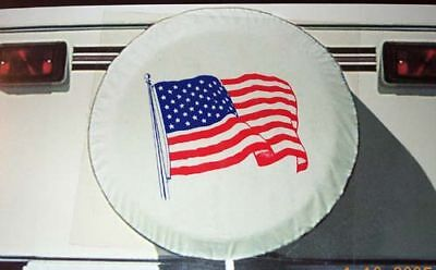"FLAG Spare tire cover Camper Motorhome RV 29"" 225/75/15 235/75/15 245/70/15"