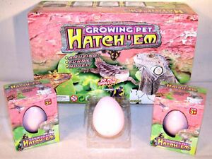 new HATCH'EM GROWING LIZARD EGGS grow reptile animal toy NOVELTY reptile lizards