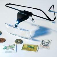 Manos Libres Gafas / Lupa Gafas + Luz Led - 3 Lentes 1.5x, 2.5x & 3.5x -  - ebay.es