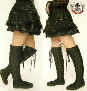 Thigh-High-TOP-GOTHIC-PUNK-ROCK-CORSET-BOOT-6-6-5-Bk-37