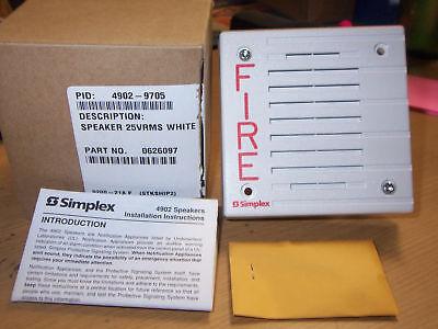 Simplex 4902-9705 25 Vrms Square Speaker White