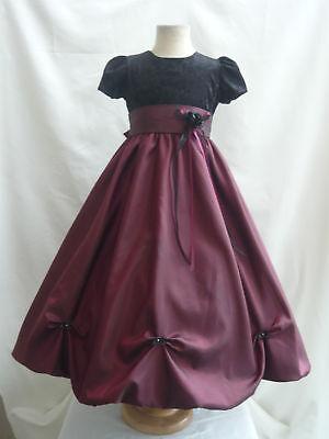 Details about red holiday velvet christmas wedding girl dress 2 4 6 8