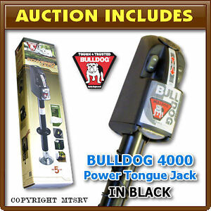 Fulton-BULLDOG-4000-BLACK-Power-Electric-RV-Trailer-Tongue-Jack-4-000-lb-NEW
