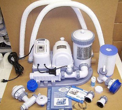INTEX ABOVE GROUND POOL PUMP+SALTWATER SALT CHLORINATOR