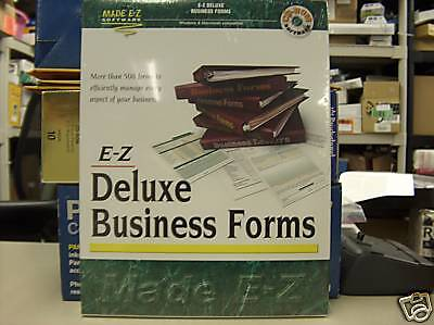 Made Ez Software - MADE EZ DELUXE BUSINESS FORMS NEW SW2251 FREE SHIPPING