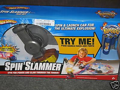 Hot Wheels Rumblers Spin Slammer Lights Sounds Action