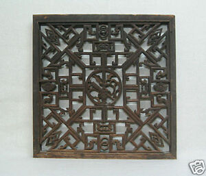 Chinese-Antique-Detail-Carved-Wooden-Shutter-B13-425