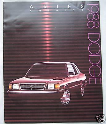 1988 Dodge Aries America (USA) Brochure