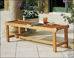 Revni-Grade-A-Teak-Wood-55-Backless-Bench-Chair-Outdoor-Garden-Furniture-New