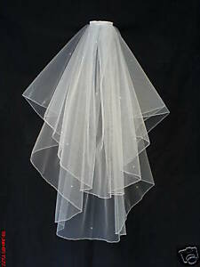 Image Is Loading Wedding Veil Bridal Veils White Made With Swarovski