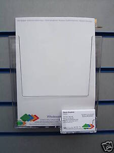 Slatwall a4 leaflet flyer business card display holder ebay for Flyer and business card holder