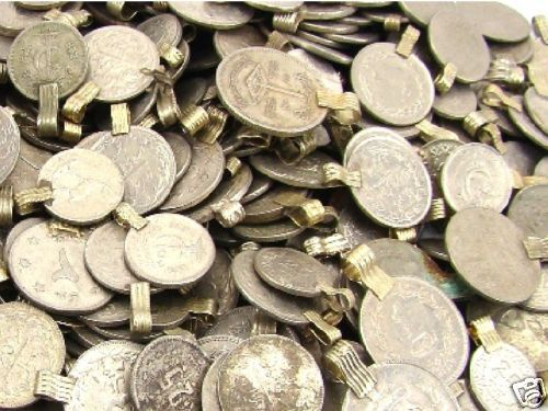 Tribal 50 real COINS Belly Dance ATS Kuchi ROUND
