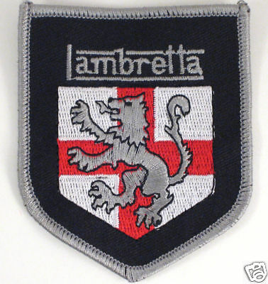 Lambretta Lion Shield Patch Mod Scooter Jacket Badge