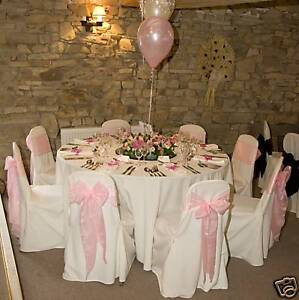 100 WEDDING CHAIR COVERS FOR SALE WHITE NEW
