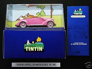 Voiture Tintin Car Atlas 69 Le Cabriolet Rose Ford V8 Ebay