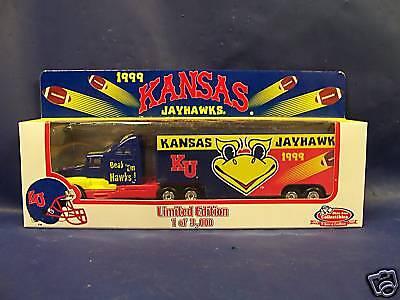 Kansas Ku Jayhawks Collectible Semi Truck 1:80 Scale