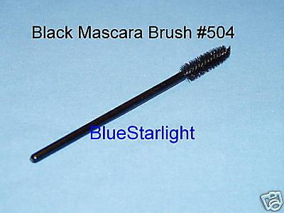 Lot Of 100 Disposable Black Mascara Wand Brush 504-4