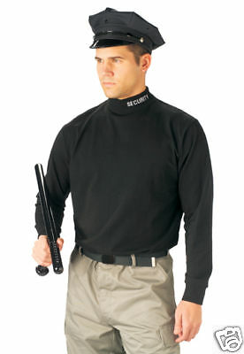 3413 Rothco Black Security Mock Turtleneck