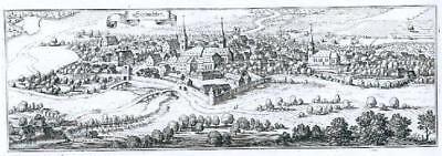 Schlüchtern. Ansicht. Kupferstich von Merian, 1646.