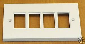 Cat5-double-gang-face-plate-4-port-no-modules