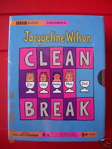 Jacqueline Wilson Clean Break 6-Tape UNABR. Audio Book NEW SEALED Helen Lederer