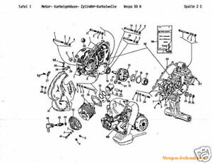 VESPA CD Exploded-view drawings/Spare parts list/Circuit
