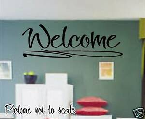 Welcome Large Vinyl Decal Wall Art Perfect Home Decor Ebay
