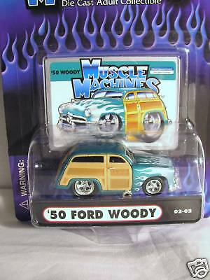 Muscle Machines '50 Ford Woody 1/64 Diecast Car