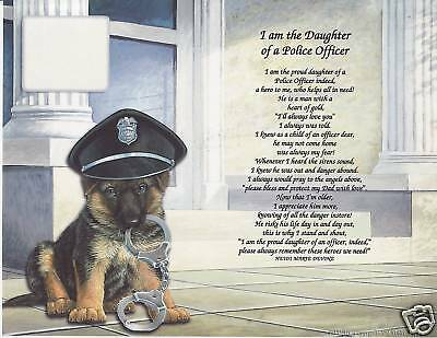 My DAD is a POLICE OFFICER Poem Personalized Name Print From Daughter or Son