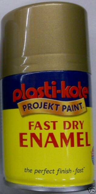 100ML PLASTI-KOTE BRASS SPRAY AEROSOL PAINT FAST DRY METAL WOOD METAL PLASTIC