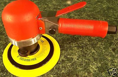 """6 """" DUAL ACTION D.A. AIR SANDER TOOL Built in air regulator w/ stick on pad sand"""