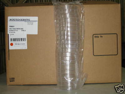 Sterile Polystyrene Petri Dish Plate 100x15 mm 500 /cs