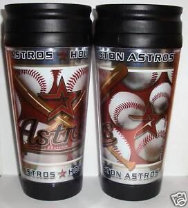 Houston-Astros-TRAVEL-MUG-INSULATED-Hot-Cold-Drink-NEW-Tumbler-MLB