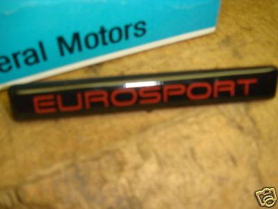 80s Eurosport Name Plate